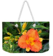 Orange Gladiola Flower And Buds Weekender Tote Bag