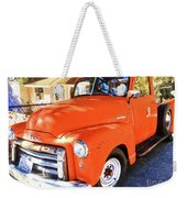 Orange Gmc Pickup Truck In Idyllwild Weekender Tote Bag