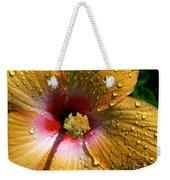Orange Hibiscus II With Water Droplets Weekender Tote Bag