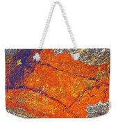 Orange Lichen Weekender Tote Bag by Heiko Koehrer-Wagner