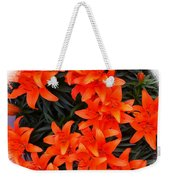 Orange Lilies Vignette Weekender Tote Bag