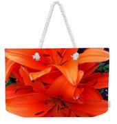 Orange Lily Closeup Digital Painting Weekender Tote Bag
