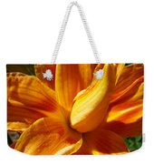 Orange Lily Flower Art Print Summer Lilies Baslee Weekender Tote Bag