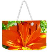 Orange Lily Flower Art Print Summer Lily Garden Baslee Troutman Weekender Tote Bag