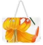 Orange Lily No 3 Weekender Tote Bag