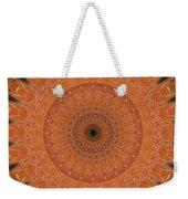 Orange Mandala Weekender Tote Bag