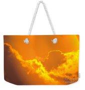 Orange Misty Sky Weekender Tote Bag