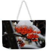 Orange Mountain Ash Berries Weekender Tote Bag