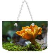 Orange Mushroom Flower On The Forest Floor Weekender Tote Bag