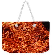 Orange Neon Flames Weekender Tote Bag