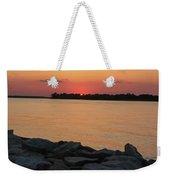 Orange Nite Sky  Weekender Tote Bag