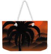 Orange Oasis Weekender Tote Bag