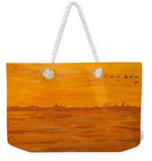 Orange Ocean Weekender Tote Bag
