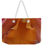 Orange Orchid 3 Weekender Tote Bag