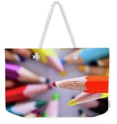 Orange Pencil Weekender Tote Bag