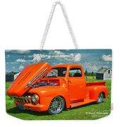Orange Pick Up At The Car Show Weekender Tote Bag