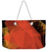 Orange Polygon Pattern Weekender Tote Bag