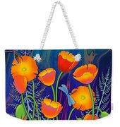 Orange Poppies And Forget Me Nots Weekender Tote Bag