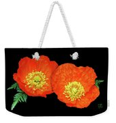 Orange Poppy Collage Cutout Weekender Tote Bag