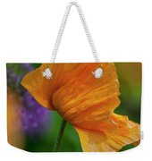 Orange Poppy Flower Weekender Tote Bag