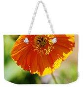 Orange Poppy Weekender Tote Bag