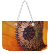 Orange Poppy With Texture Weekender Tote Bag