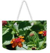 Orange  Red Flowers Weekender Tote Bag