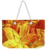 Orange Rhodies Flowers Art Rhododendron Baslee Troutman Weekender Tote Bag
