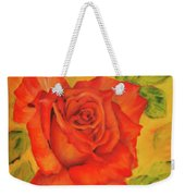 Orange Rose Blossom Weekender Tote Bag