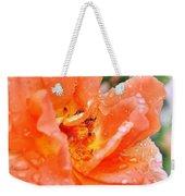 Orange Rose Raindrops Weekender Tote Bag
