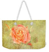 Orange Rose With Old Paint Texture Background Weekender Tote Bag
