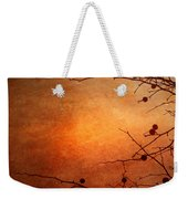 Orange Simplicity Weekender Tote Bag