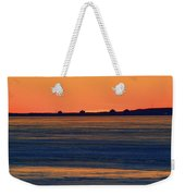 Orange Sky Above The Ice Of Kempenfelt Bay  Weekender Tote Bag