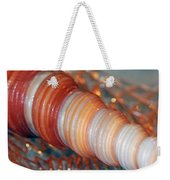 Orange Spiral Shell Weekender Tote Bag