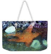 Orange Starfish Weekender Tote Bag