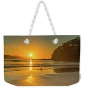 Orange Sunrise Seascape And Beach Weekender Tote Bag
