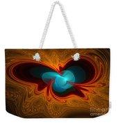 Orange Swirl With Blue Weekender Tote Bag