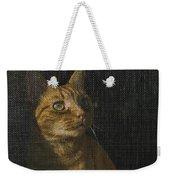 Orange Tabby Cat Looking Weekender Tote Bag