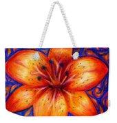 Orange Tiger Lily Drawing Weekender Tote Bag by Kristin Aquariann