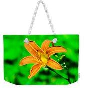 Orange Tiger Lily Weekender Tote Bag