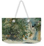 Orange Trees And Gate Weekender Tote Bag