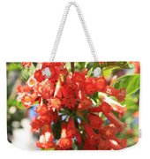 Orange Trumpet Flower Weekender Tote Bag