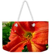 Orange Trumpeting Lily Weekender Tote Bag