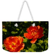 Orange Tulips In My Garden Weekender Tote Bag