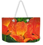 Orange Tulips With Brocade Weekender Tote Bag
