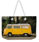 Orange Vw Bus Weekender Tote Bag