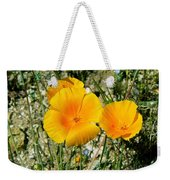 Orange Wildflowers Weekender Tote Bag