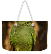 Orange-winged Amazon Parrot Weekender Tote Bag by Adam Romanowicz