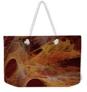 Orange With Texture Weekender Tote Bag