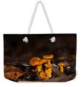 Orange Woodland Mushrooms Weekender Tote Bag